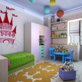 Дизайн детской комнаты для ребенка дошкольного возраста