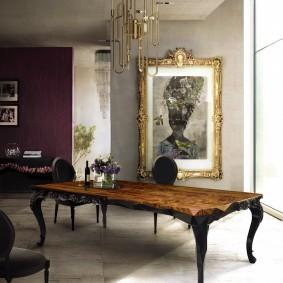 Стильный стол из массива дерева