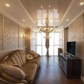 Небольшая гостиная в стиле классики