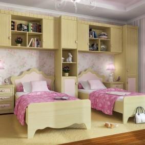 Модульная мебель для комнаты девочек