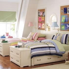 Удобные кровати с выдвижными ящиками