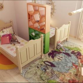 Разделение комнаты для детей разного пола