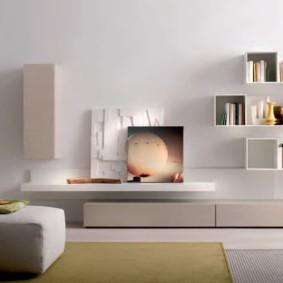 Стильная мебель в зале современного стиля