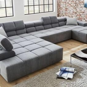 Модульный диван П-образной формы