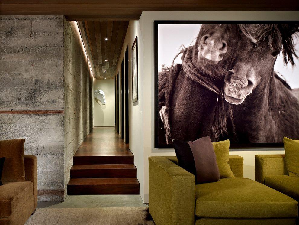 Сепия в интерьере зала современного стиля