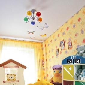Детский светильник с разноцветными плафонами