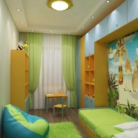 Каркасная мебель в небольшой комнате