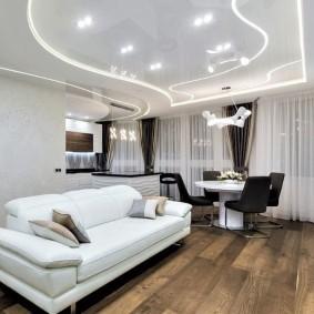 Белый диван раскладной конструкции