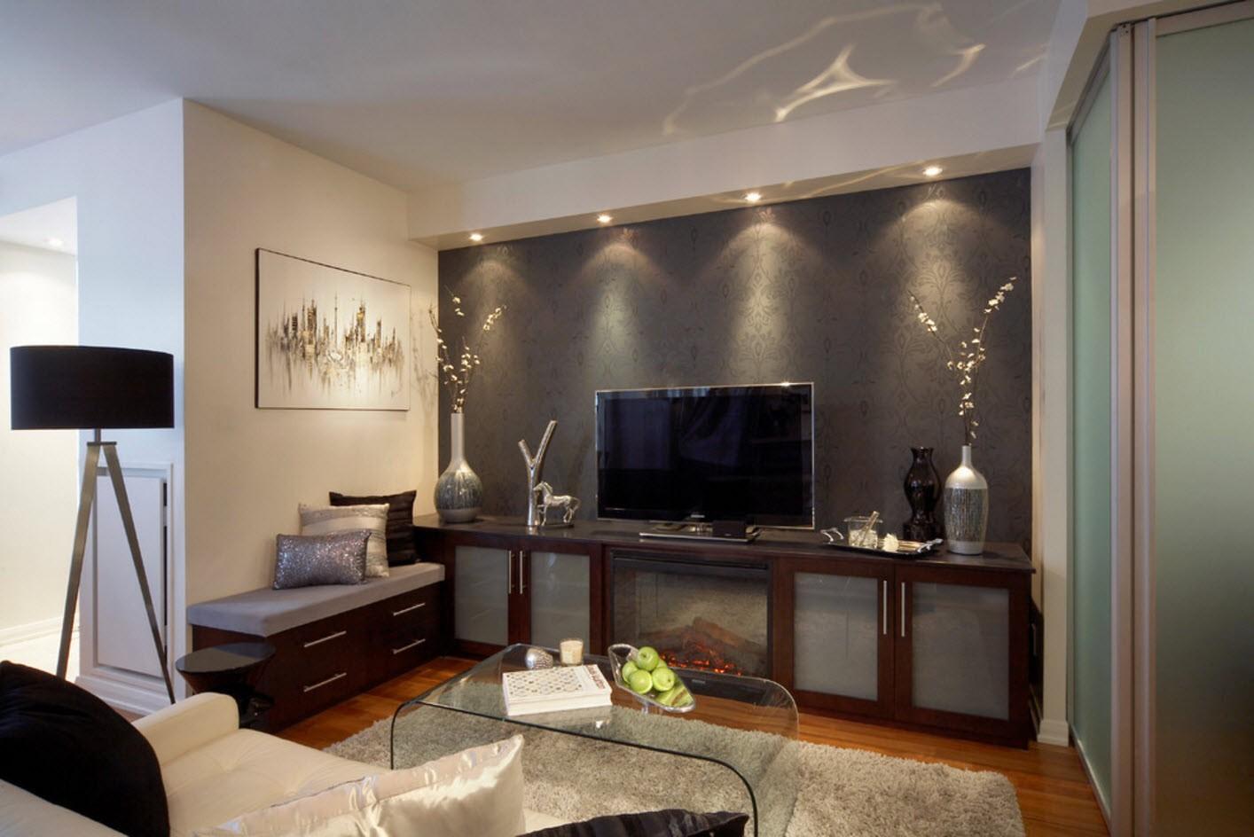 эффектно представить как красиво оформить стену с телевизором фото целеустремленная