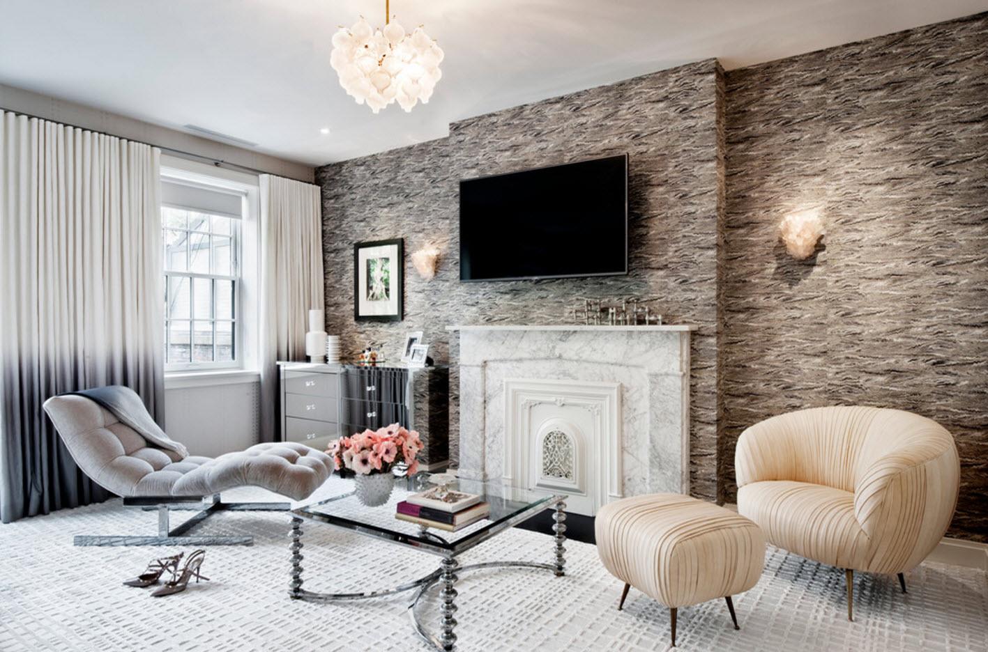 современные тенденции обои зала в квартире фото одно имен богини