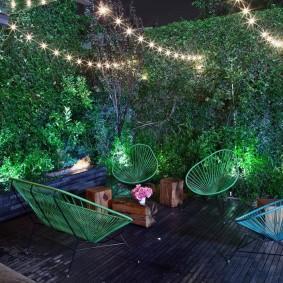 Садовая мебель из толстой проволоки