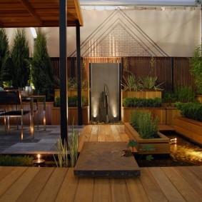 Дизайн внутреннего дворика загородного участка