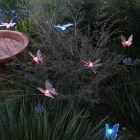 Декоративные светильники в виде бабочек