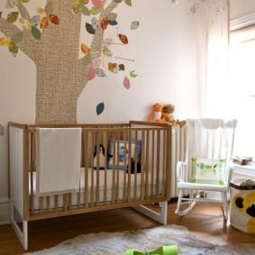 Детская кроватка для новорожденного младенца