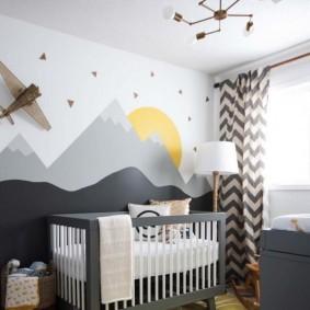 Оттенки серого цвета в интерьере детской