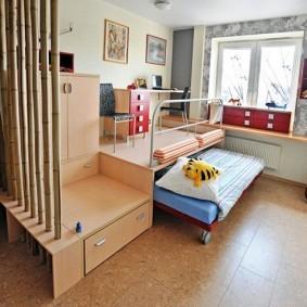 Набор мебели с выдвижной кроватью