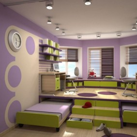 Сиреневый цвет в дизайне детской комнаты