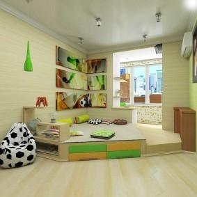 Дизайн детской комнаты с утепленным балконом