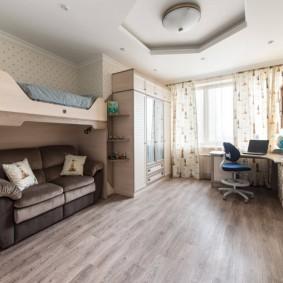Дизайн комнаты для двоих детей подростков
