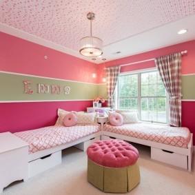 Уютная комната для девочек дошкольного возраста