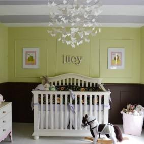 Оформление интерьера комнаты для новорожденного