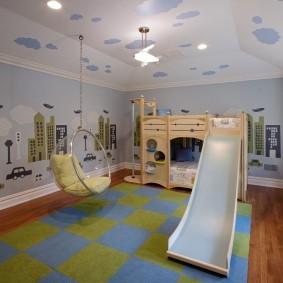 Игровая комната для детей в загородном доме