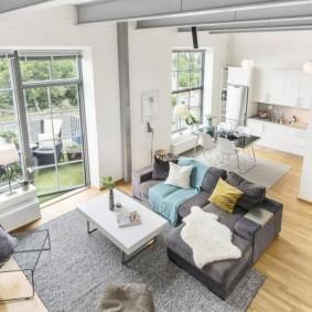 Правильная расстановка мебели в зале частного дома