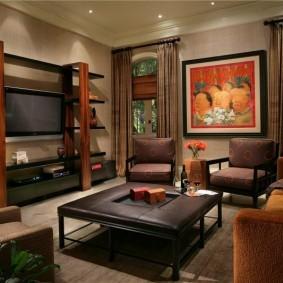 Стильная мебель в гостиной частного дома