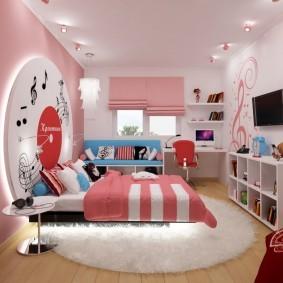 Розовый цвет в интерьере детской