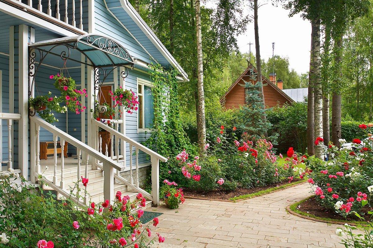 картинка дома садового участка расцвет весны