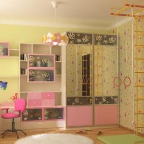 Красивая мебель в комнату для девочки
