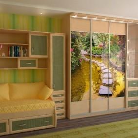 Современная мебель для просторной детской