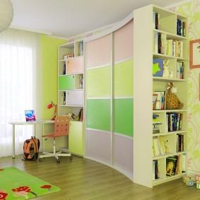 Открытый стеллаж для хранения книг