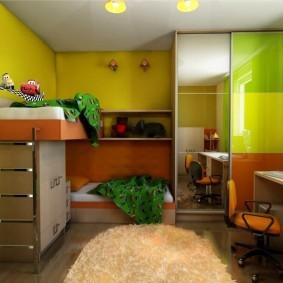 Дизайн детской комнаты с низким потолком