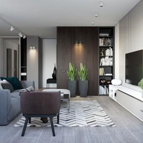 Живые растения в интерьере современной квартиры