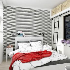 Маленькая спальня в современной квартире