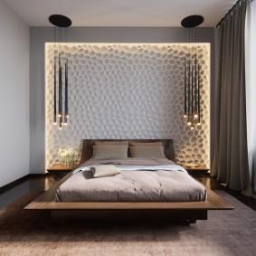 Небольшая спальня в современном стиле