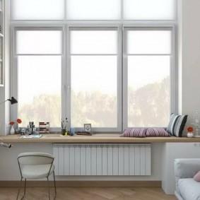 Оформление окна без штор в детской комнате