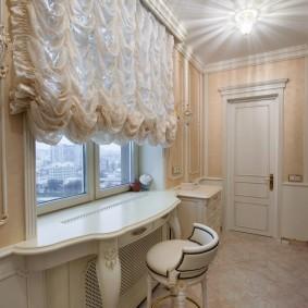 Французские шторы в комнате юной модницы