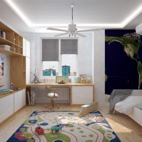 Светодиодная подсветка на белом потолке