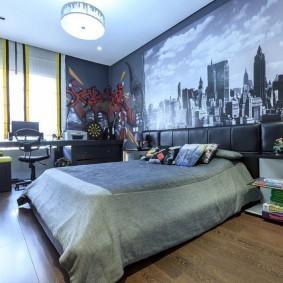 Фотообои в комнате современного подростка