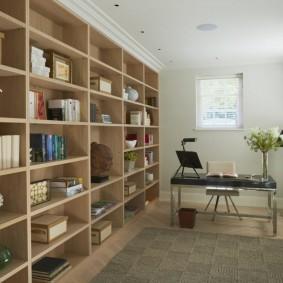 Стеллажи для хранения книг в кабинете