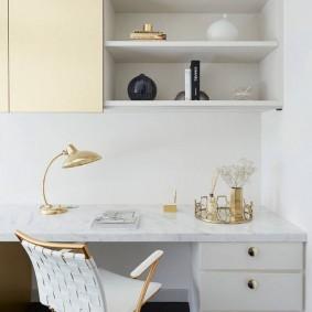 Подвесные шкафчики белого цвета