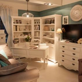 Интерьер кабинета в стиле прованса