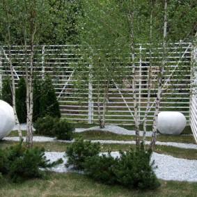 Декоративные стенки из белых реек