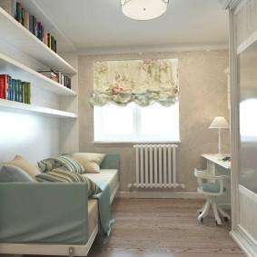 Узкая комната для маленького мальчика