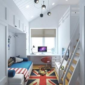Светлая мебель встроенного типа
