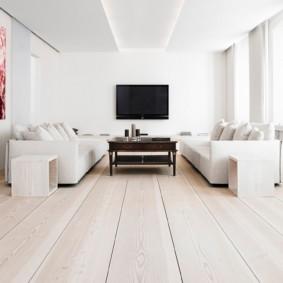 Большой зал в стиле минимализма