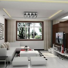 Дизайн маленького зала в современном стиле