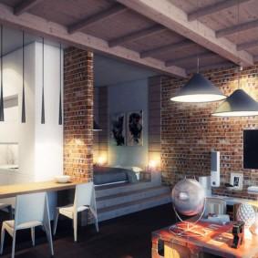 Дизайн интерьера частного дома с элементами лофта